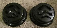 "2 RV Marine Gloss Black Wavy Silver 5.25"" Flush Mount Speaker UV Waterproof"