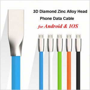 Zinc Alloy 20AWG Micro USB FAST USB Cable For Samsung Android / iPhone
