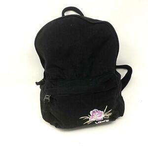 Vans Backpack School Bag New Mini Purse Funville Black Floral