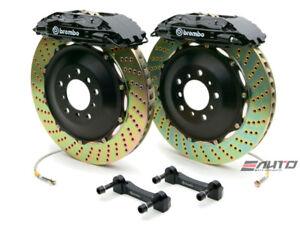 Brembo Front GT BBK Brake 4pot Black 355x32 Drill Disc Rotor Benz W203 W209 R171