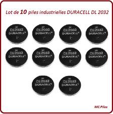 10 piles boutons DL2032 lithium Duracell Ind, livraison rapide et gratuite