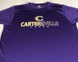 Cartersville Canes Shirt Adult SZ M/L Short Georgia School Dri-Fit Hurricanes