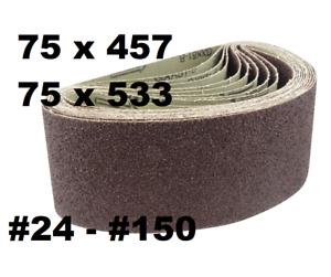 Sanding Belt 75x533 75x457 GRIT: 24 36 40 60 80 100 120 150 180 belt sander