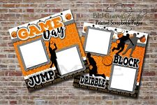 Basketball Game Day Sports 2 PRINTED Premade Scrapbook Pages BLJgraves 76