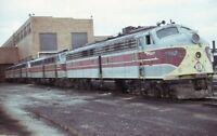 ERIE LACKAWANNA Railroad Streamliner Locomotive Original 1976 Photo Slide