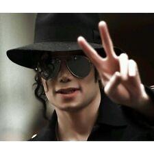 Michael Jackson schwarz Hut aus Wollstoff+Perücke+Sonnenbrille Set für MJFans180