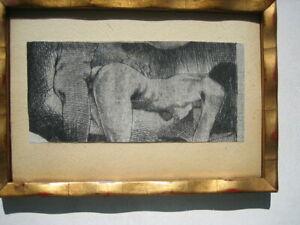 Lackenmacher, Portrait, Person, Akt, Liebesspiel, Orig.Radierung, signiert.