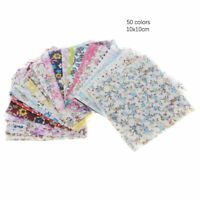50pcs 10*10cm Square Floral Cotton Fabric Patchwork Cloth For DIY Craft Sewing