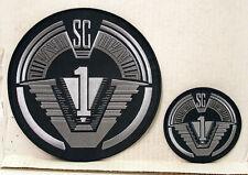 """STARGATE TV SERIES SG-1 LOGO PATCH SET OF 2- 8"""" JACKET & 4"""" LOGO (SGPA-JPS1)"""