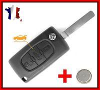 Coque PLIP Télécommande Bip Clé Pour Citroën C4 Picasso 3 Boutons CE536 + Pile