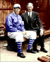 Connie Mack & Lefty Grove Photo 8X10 A's 1931 COLORIZED - Buy Any 2 Get 1 FREE