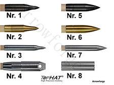 TopHat ® Pfeilspitzen 3D Feldspitze Brüniert/ Bullet Messing, Alu Schraubspitzen