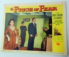 THE PRICE OF FEAR Film Lobby Card Merle OBERON Lex BARKER 1956