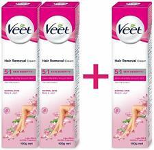 Veet Hair Removal Cream - 100 g (Normal Skin, Buy 2 Get 1 Free)