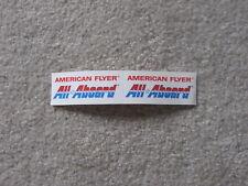 AMERICAN FLYER ALL ABOARD STICKER ORIGINAL