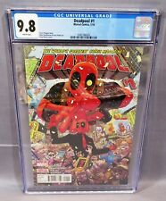DEADPOOL #1 (White Pages,Tony Moore Cover) CGC 9.8 NM/MT Marvel Comics 2016 cbcs