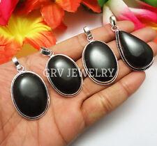 Black Onyx Gemstone 1pcs Pendant 925 Silver Overlay SP-14