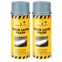 1K Dickschichtfüller 2x400ml Grau Spray Füller Thick Layer Grundierung Chamäleon
