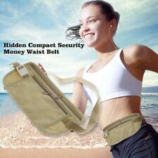 Durable Lightweight Travel Pouch Hidden Compact Security Money Waist Belt EL