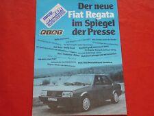 FIAT Regata im Spiegel der Presse Pressezitate Prospekt Brochure von 1983