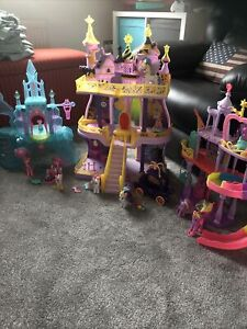 My Little Pony Bundle, 3 Playsets And Accessories