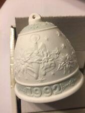 Retired Rare Lladro 1992 Porcelain Christmas Bell 15913 In Original Box