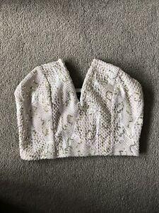 New Look Sequin Bandeau Crop Top Size 8