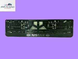 """""""NISSAN""""Euro License Plate Tag Holder Mount Adapter Bumper Frame Bracket"""
