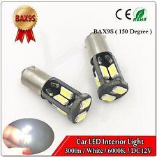 10PCS H6W BAx9s WHITE LED CAN BUS 140-SMD 5630 Side lights Interior lights bulb