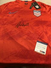 Alex Morgan Signed Team USA Jersey Soccer Autographed Red PSA Authentication