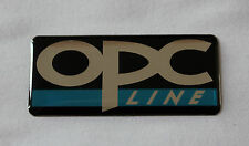 opc line Sticker/Decal 50mm x 22mm HIGH GLOSS DOMED GEL FINISH- Opel - Vauxhall