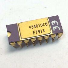 FAIRCHILD 93481DC | VINTAGE IC 16 PIN 4Kx1 RAM MEMORY | GOLD PURPLE CERAMIC 1979