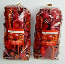 Luminessence Lot Of 2 Bags Apple & Cinnamon Scented Potpourri New 4 0z Bags