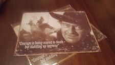 John Wayne tin signs