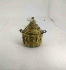 Damigiana  impagliata miniatura artigianato presepe San Gregorio Armeno