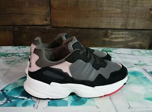 Adidas Falcons Girls Athletic Shoes Size 4 LVL 029002 Gray Black Pink Red