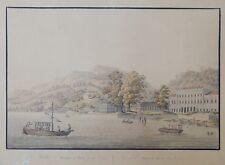 1810 ACQUATINTA Artaria Borgo di Vico COMO - G. Mantelli - P. Birman H. Adam