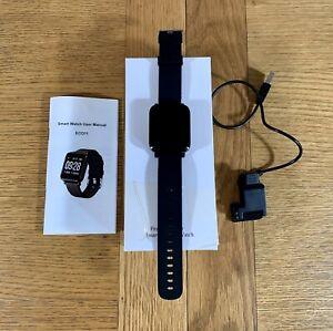 Smart Bracelet Bluetooth Fitness Watch Heart Rate Blood Activity Monitor Black