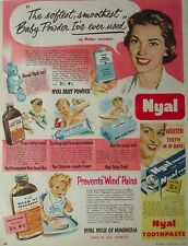 Original NYAL PHARMACY PRODUCTS 1950s Vintage Print Ad - Australian