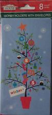 New 8 ct. Christmas Money Gift Card Holders cards w/ envelopes~Christmas Wishes