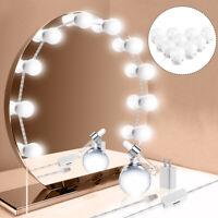 LED Espejo de Tocador Luces Kit Con Regulable Bombillas Hollywood Estilo Luces