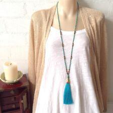 Necklace Tassel beaded ethnic fringe jewelry Boho jewellery Girl gift