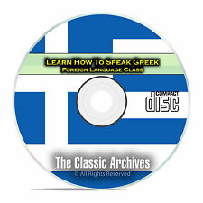 Learn How To Speak Greek, Fast & Easy Foreign Language Training Course, CD D96