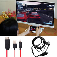 0FF0 Micro USB MHL To HDMI AV TV Adapter Converter Cable Cord For Mobile Phone