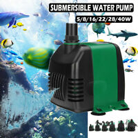 5W~40W Submersible Water Pump Fish Pond Aquarium Tank Waterfall Fountai