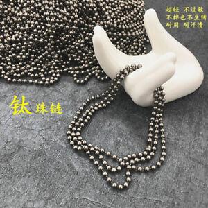 Pure Titanium Cowboy Style Neck Chain Necklace Chain Ball Chain