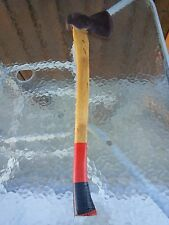 """ANTIQUE Hewing Tool AXE 25"""" Long Wooden Handle Great Condition"""