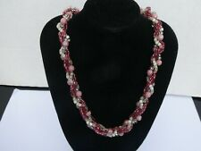 LOVELY TWISTED BEADED NECKLACE/CHOKER