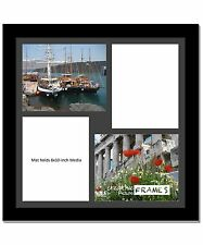 CreativePF 4 Opening Multi 8x10 Black Picture Frame w/ 20x20 Black Collage Mat