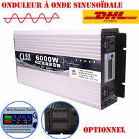 600W-6000W Max DC12V 24V 48V 60V à AC 220V Power Inverter Onduleur Convertisseur